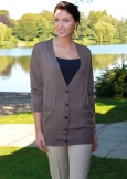 Langer Cardigan, extra-fein, 100% Cashmere